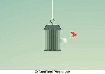 Minimalist stile. vector business finance. Flying bird and ...