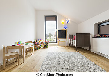 Minimalist unisex child room