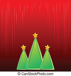 minimalist, vektor, hintergrund, bäume, weihnachten
