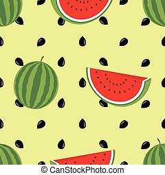 Minimalist watermelon high quality seamless pattern. Cute seamless pattern with watermelons. Vector background. Good for wallpaper, invitation cards, textile print. Vector trendy illustrations.