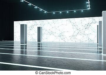 Minimalist white interior
