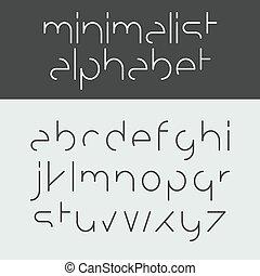 minimalista, alfabeto