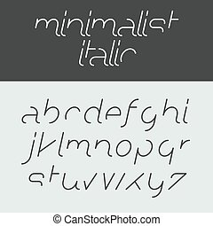 minimalista, corsivo, alfabeto