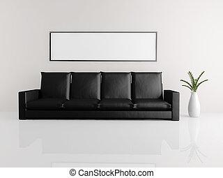 minimalista, divano