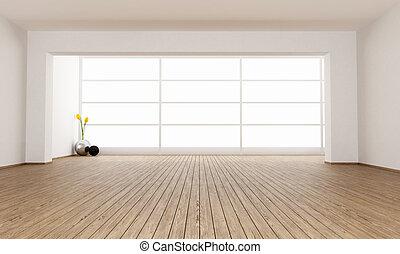 minimalista, habitación, vacío