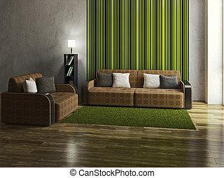 minimalista, livingroom