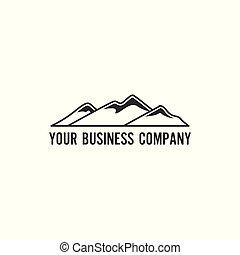 minimalista, montaña, logotipo