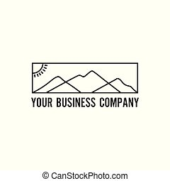 minimalista, montagna, logotipo