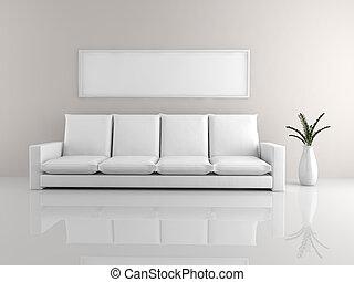 minimalista, sofá