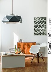 minimalista, stanza, creativo