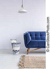 minimalista, stanza, divano