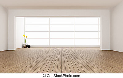 minimalista, stanza, vuoto