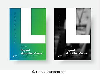minimalista, stile, l., manifesto, moderno, disegno, lettera, nero, bianco