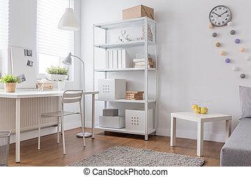 minimaliste, blanc, conception