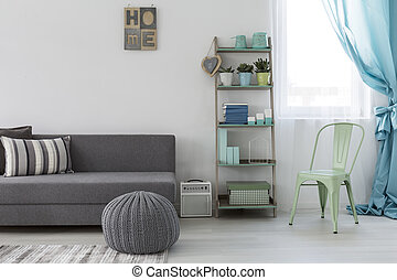 minimaliste, clair, salle, vivant