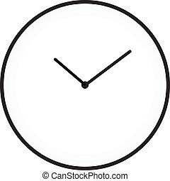 minimaliste, horloge