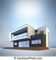 minimaliste, house., contemporain
