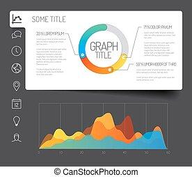 minimaliste, infographic, tableau bord, gabarit