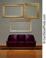 minimaliste, intérieur, visualization.
