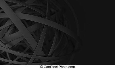 minimaliste, mat, résumé, anneaux, arrière-plan noir