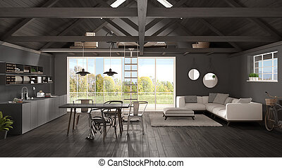 vivant jardin minimaliste bois panorama mezzanine classique plancher toiture scandinave. Black Bedroom Furniture Sets. Home Design Ideas