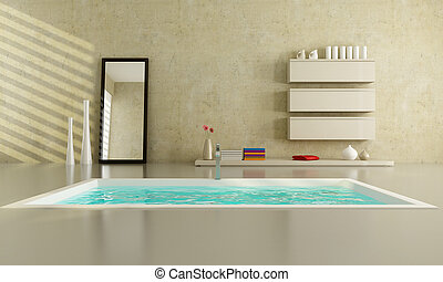 minimaliste, salle bains