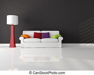 minimaliste, salle de séjour