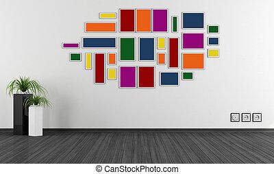 minimaliste, salle, vide