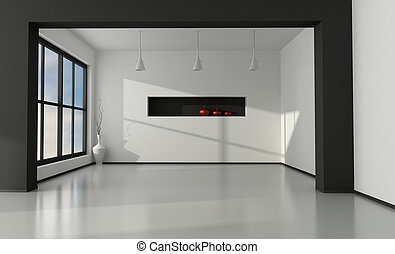 minimaliste, vide, intérieur