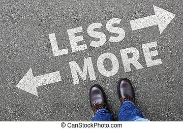 minimaliste, vie, concept, business, moins, décision, mieux, reddition, plus