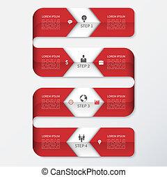 minimalistic, 現代 ビジネス, テンプレート, infographics
