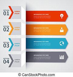 minimalistic, 現代, 旗, infographics