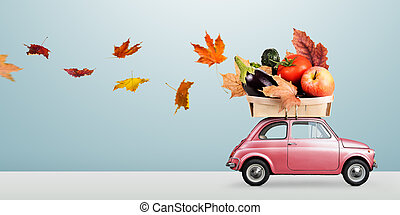 minimalistic, alimento, entrega