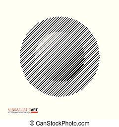 Minimalistic art modern geometric design. Simple black and...