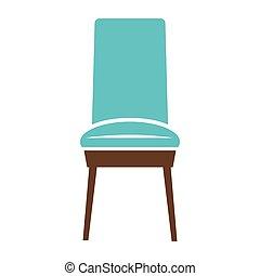 Minimalistic blue chair