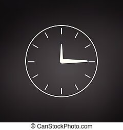 Minimalistic clock or time icon, vector illustration isolated on modern background.