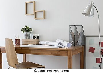 minimalistic, escritório lar