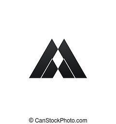 Minimalistic Geometric Logo. Vector graphic design elements for your company logo. Creative abstract geometric business icon in modern flat style