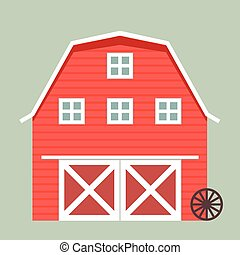 barn - minimalistic illustration of a barn, eps10 vector