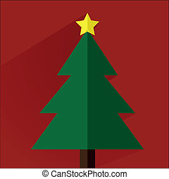 christmas tree - minimalistic illustration of a christmas...