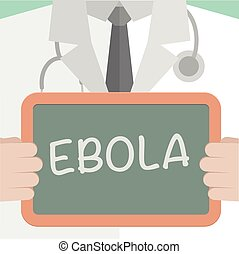 Ebola - minimalistic illustration of a doctor holding a...
