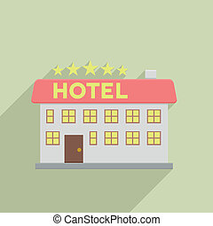 hotel - minimalistic illustration of a hotel, eps10 vector