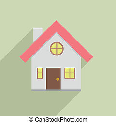 house - minimalistic illustration of a small house, eps10...