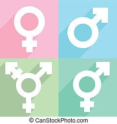 transgender symbol - minimalistic illustration of a...