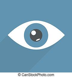 eye - minimalistic illustration of an eye, eps10 vector