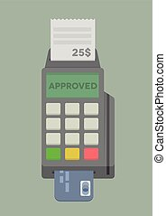 POS Terminal - minimalistic illustration of POS Terminal...
