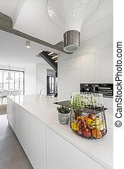 Minimalistic kitchen worktop