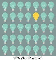 minimalistic lightbulbs background