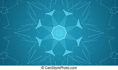 Minimalistic line art kaleidoscope - Minimalistic line art...