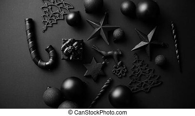 minimalistic, matte, schwarz, farbe, zusammensetzung, ...
